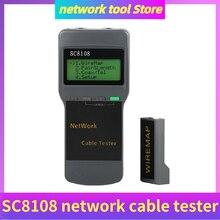 Portable SC8108 LCD Network Tester Meter RJ45 Cat5 Cat6 UTP Unshielded LAN Cable Tester RJ11 LAN Phone Cable Meter LCD Display