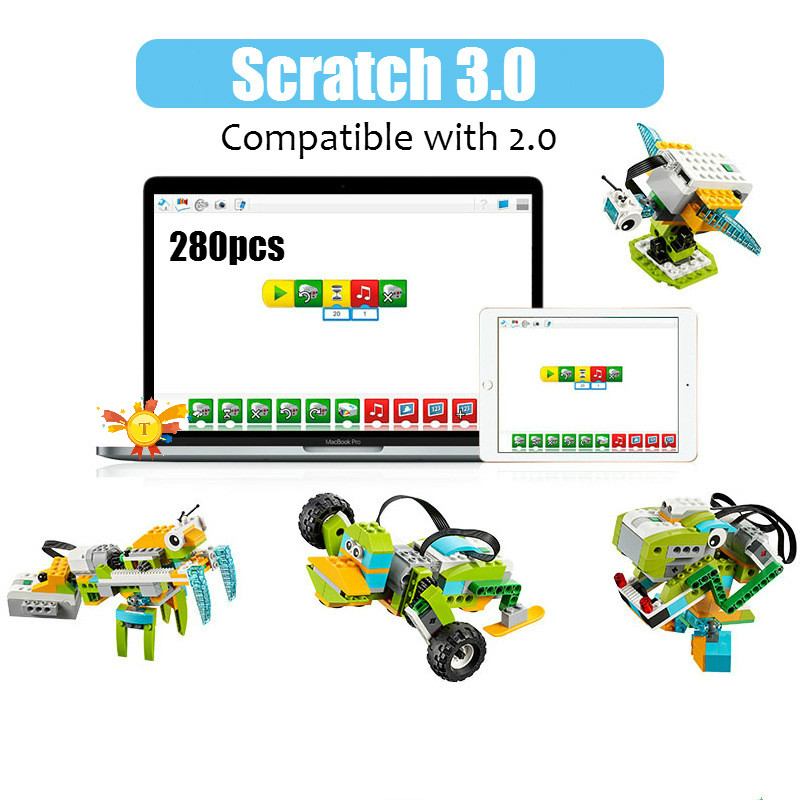 2019 NEW Technical WeDo 3.0 Robotics Construction Set Building Blocks Compatible With 2.0 Educational DIY Toys
