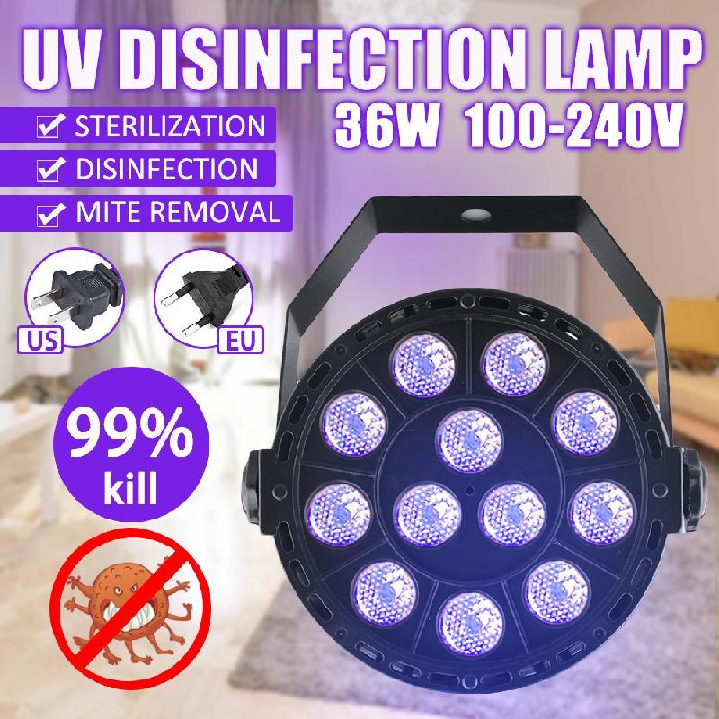 36W Disinfection UV Lamp LED Ultraviolet Sterilization Germicidal Bacterial Disinfect Virus Lights US/EU/UK/AU Plug For Room