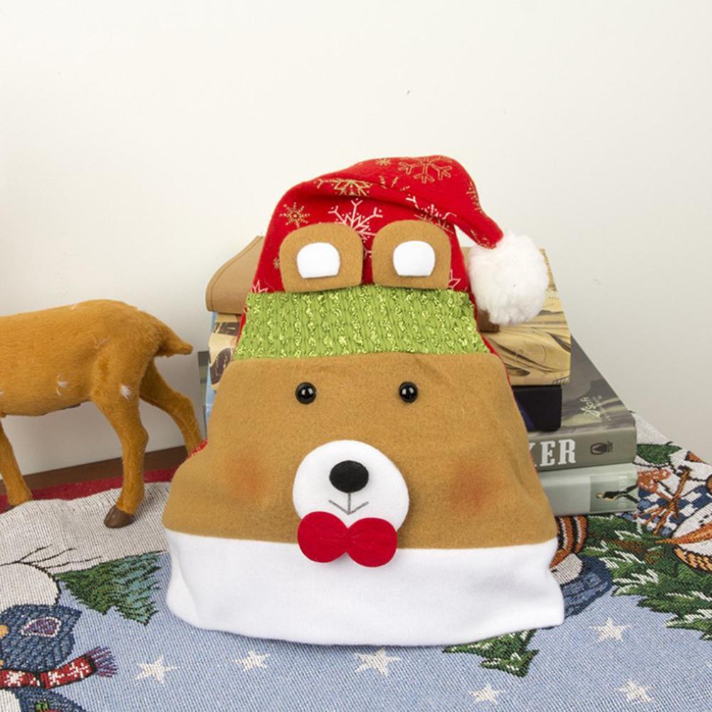 Santa Claus Hat Gold Velvet Festival Party Dress Costume Snowman Deer Bears Hat For Adult Children Christmas Gifts