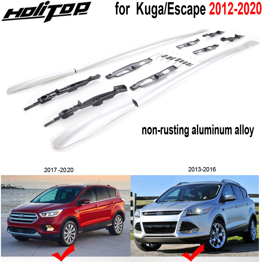 upgraded roof rails bar roof rack for ford kuga escape 2012 2020 thicken aluminum alloy strong enough can load weight 100kg