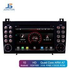 JDASTON Android 10,0 в Dash 2 Din Автомобильный dvd-плеер для Mercedes Benz SLK R171 SLK230 W171 Автомобильный gps Радио Аудио мультимедиа стерео