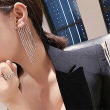 New fashion crystal tassel ear pendant hanging ear