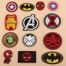 Bordir Patch Iron Man, Spiderman, Batman Superhero untuk Pakaian Patch DIY Bordiran Aksesori Patch Pakaian Dekorasi(China)