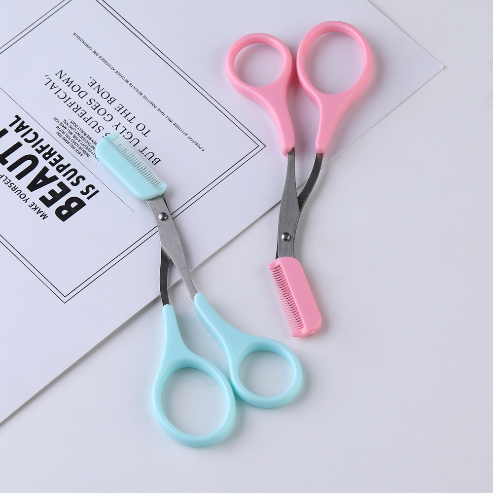 1pcs Makeup Eyebrow Trimmer Scissors With Comb Hair Removal Shears Comb Grooming Cosmetic Eyebrow trimming Tools 6