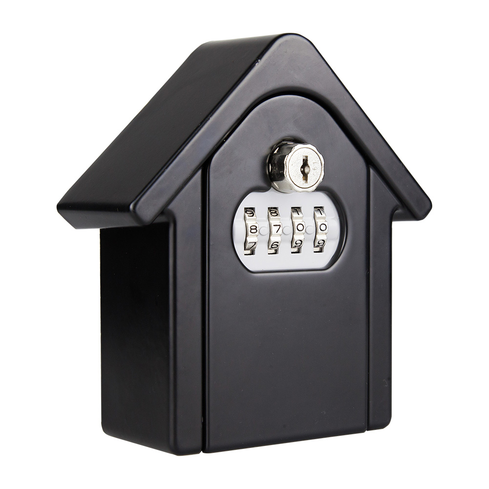 Key Lock Box With Waterproof Case Wall Mount Metal Password Box For Home Business  GT66