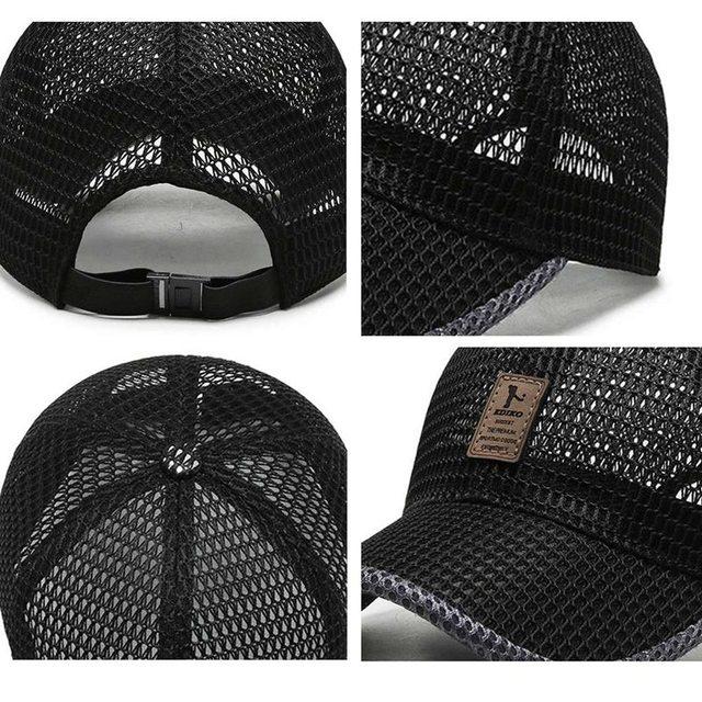 Summer Breathable Mesh Baseball Cap Riding Fishing Visors Tennis Golf Caps Women Men UV Protection Fashion Panama Sport Hat 3
