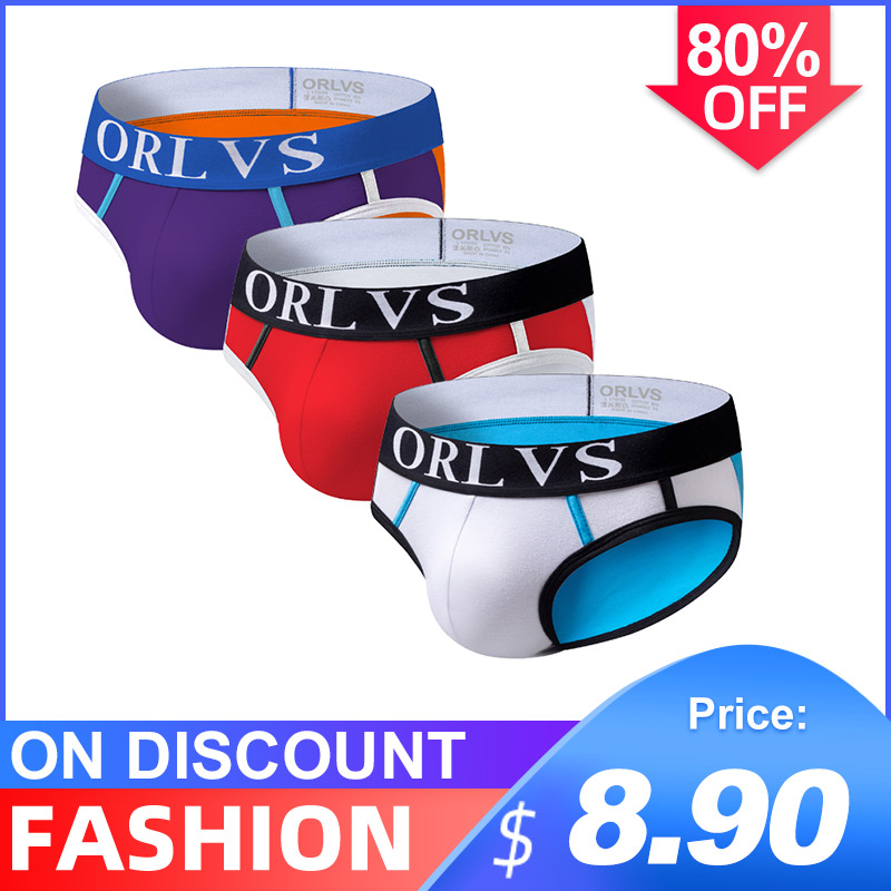 3Pcs/lot New Arrival Low Waist Sexy Undenwear Men Jockstrap Briefs InnerwearBikini Gay Men Underwear Male Jock Strap Cueca OR13