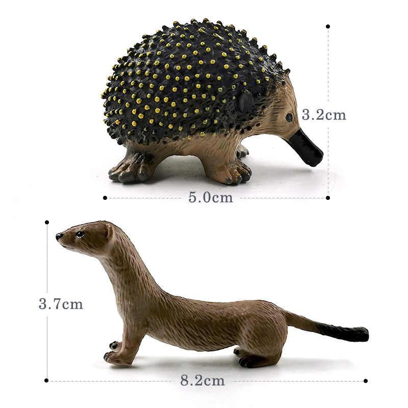 Nuevo hipopótamo oso burro Mole Otter conejo hiena dragón chino estatuilla Animal modelo hogar Decoración miniatura Decoración Accesorios