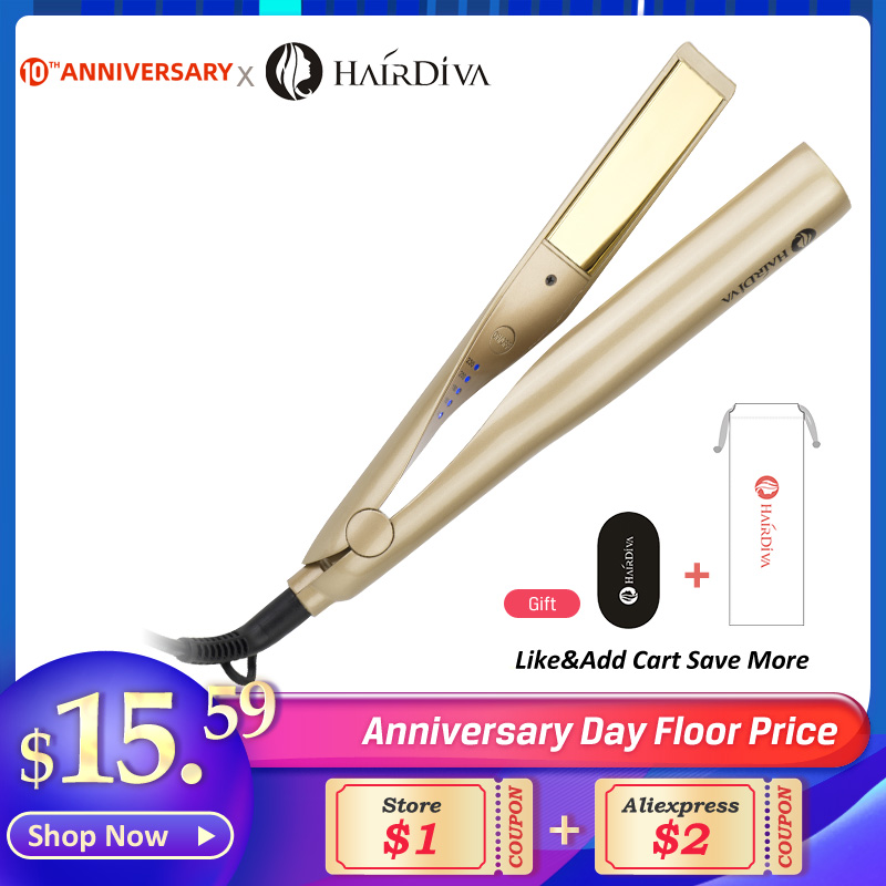 Professional Twist LED Hair Straightener Hair Curler Multi-Styler Curling Chapinha Wand 2-In-1 Twisted Ceramic  Hairdiva Flat Ir