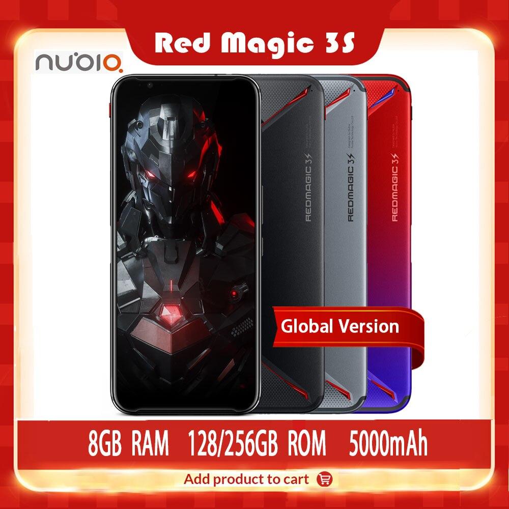 """Version mondiale téléphone de jeu Original ZTE Nubia rouge magique 3S 128G 8G 6.65 """"90Hz Snapdragon 855 Plus 48MP + 16MP 5000mAh Fastcharge"""