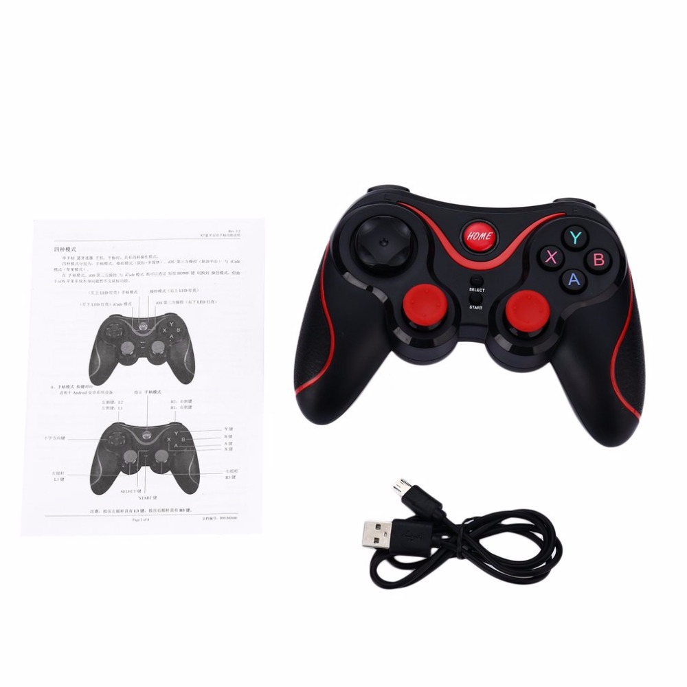 Bluetooth Gamepad Wireless Joystick Joypad Gaming Controller Remote Control For Tablet PC For Android Smartphone With Holder