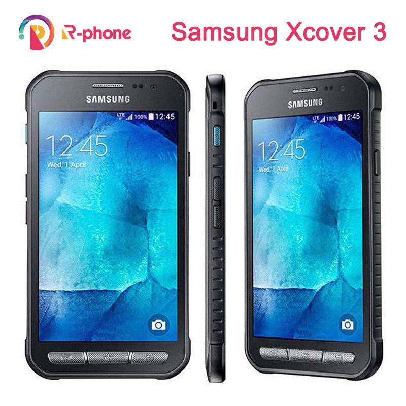 Original samsung galaxy xcover 3 g388f g389f celular 3g 4g lte desbloqueado quad core 5mp 4.5