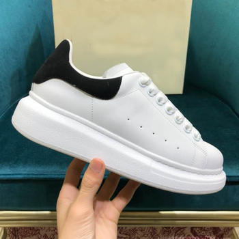 Plus Size 44 Designer Alexander Shoes High Platform Lace Up Casual Sneakers Luxury Designer White Shoes For Men And Women LU63