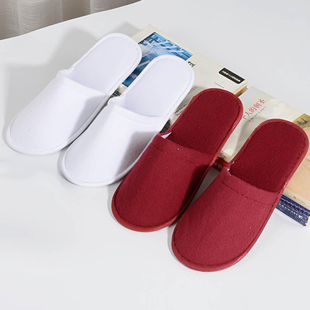 Zapatilla Mujer Unisex Disposable Solid Color Non-Slip Closed Toe Flat Shoes Hotel Slippers мягкие тапочки