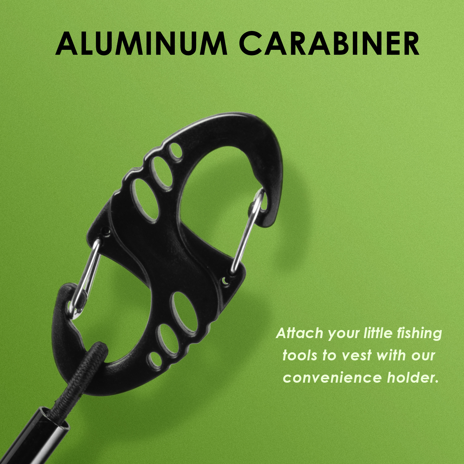 Black Tippet T Spool Holder Fly Fishing Tippet Holder with Carabiner
