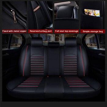 2020 New Custom Leather Four Seasons  For Hyundai tucson ix35 i30 ix25 Elantra accent Sonata solaris Car Seat Cover Cushion цена 2017