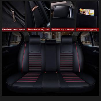 2020 nowe niestandardowe skórzane cztery pory roku dla Hyundai tucson ix35 i30 ix25 Elantra akcent Sonata solaris poduszka na siedzenie samochodu tanie i dobre opinie HLFNTF z włókien syntetycznych CN (pochodzenie) 20inch 80inch Pokrowce i podpory 60inch