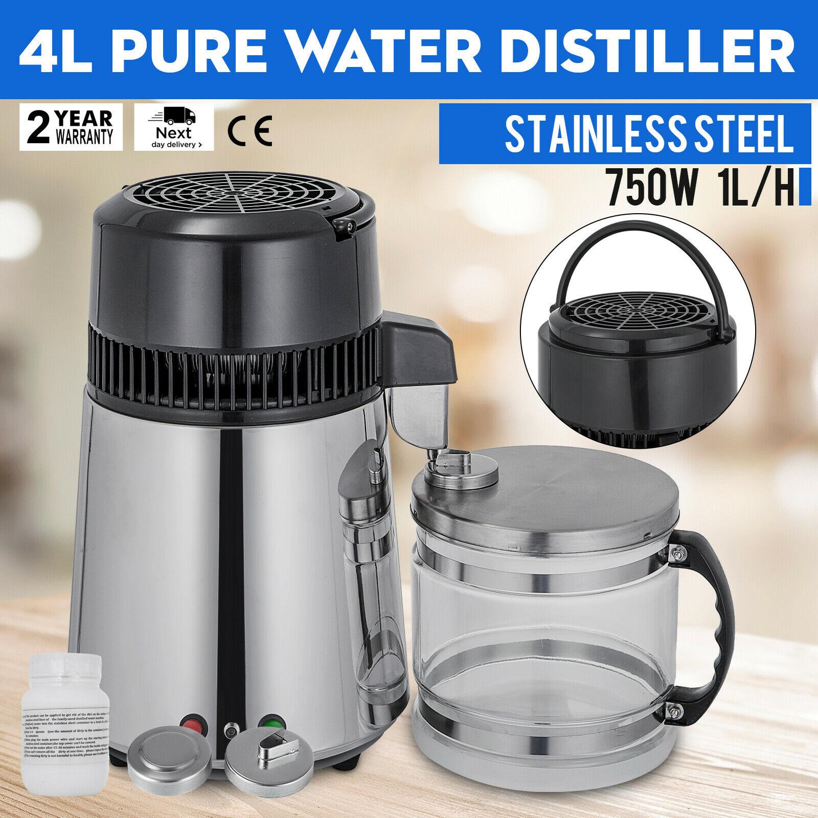 1.5L/h 750W Distillateur d'eau Pro Purificateur Inoxy pour Maison Laboratoire