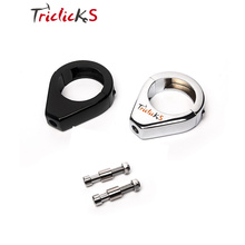 Motorcycle Turn Signal Mount Bracket Black Chrome 39/41/49mm CNC Aluminum Fork Relocation Clamps For Harley Softail Fatboy