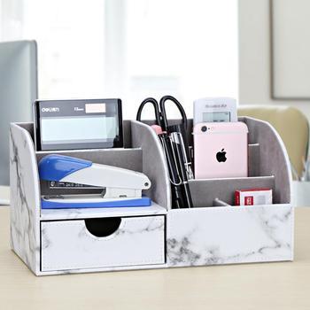 Büro Liefert Multi-funktionale Schreibwaren Lagerung box Stift halter Bleistift Box Große kapazität Schreibtisch veranstalter mit schublade Neue