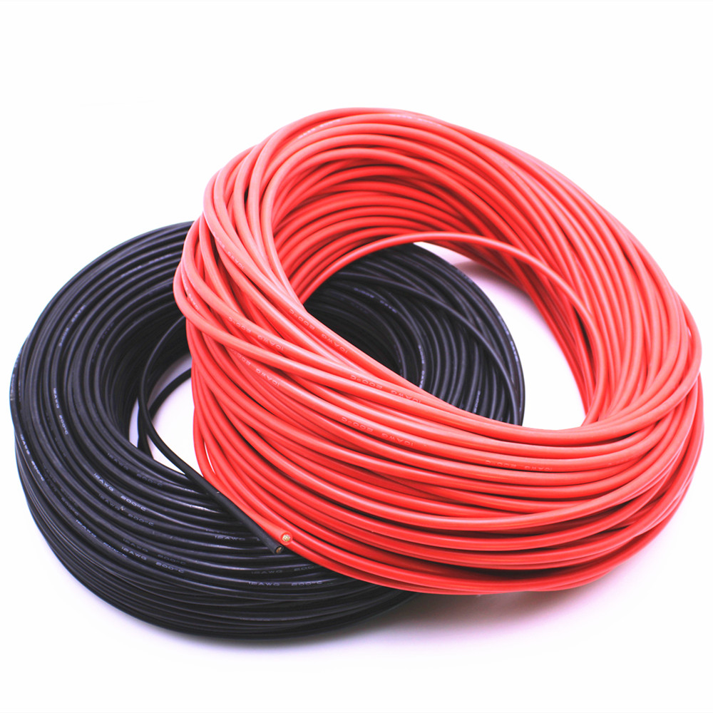 High quality soft cable 10 meters extra soft high temperature <font><b>silicone</b></font> wire 10 11 <font><b>12</b></font> 13 14 15 16 17 18 20 22 24 26 <font><b>AWG</b></font> image