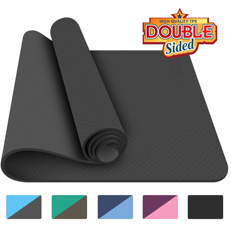 Double Sided Use TPE Yoga Mat Big Size Non Slip Carpet Mat For Beginner Environmental Fitness Gymnastics Mats 183x800x8mm Tapete
