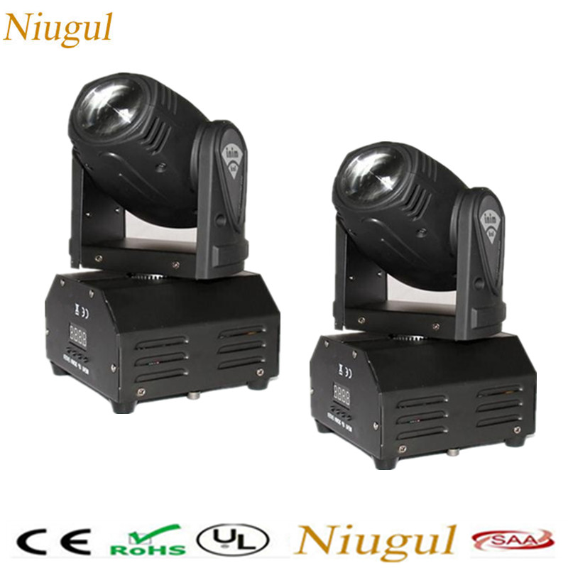 2pcs/lot Mini 10W Beam LED Moving Head Light /DMX LED Beam Wash Effect Stage Lighting /RGBW LED Spotlight For DJ Party Nightclub