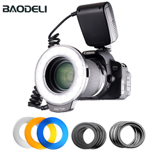 лучшая цена BAODELI Blogger Anualar Led Macro Photography Anillo Ring Flash Light Hinglight For Camera Dslr Canon Pentax Nikon Sony Olympus