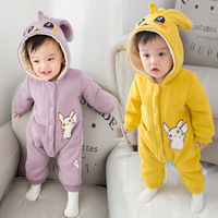 New Winter Autumn Children Clothes Baby Rompers Cute Cartoon Print Infant Girl Boy Jumpers Kids Grils Baby Outfits Clothes