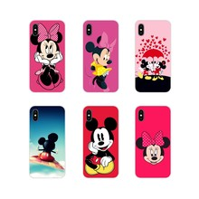 Soft Transparent Skin Case cartoon mickey minnie mouse For Apple iPhone X XR XS 11Pro MAX 4S 5S 5C SE 6S 7 8 Plus ipod touch 5 6(China)