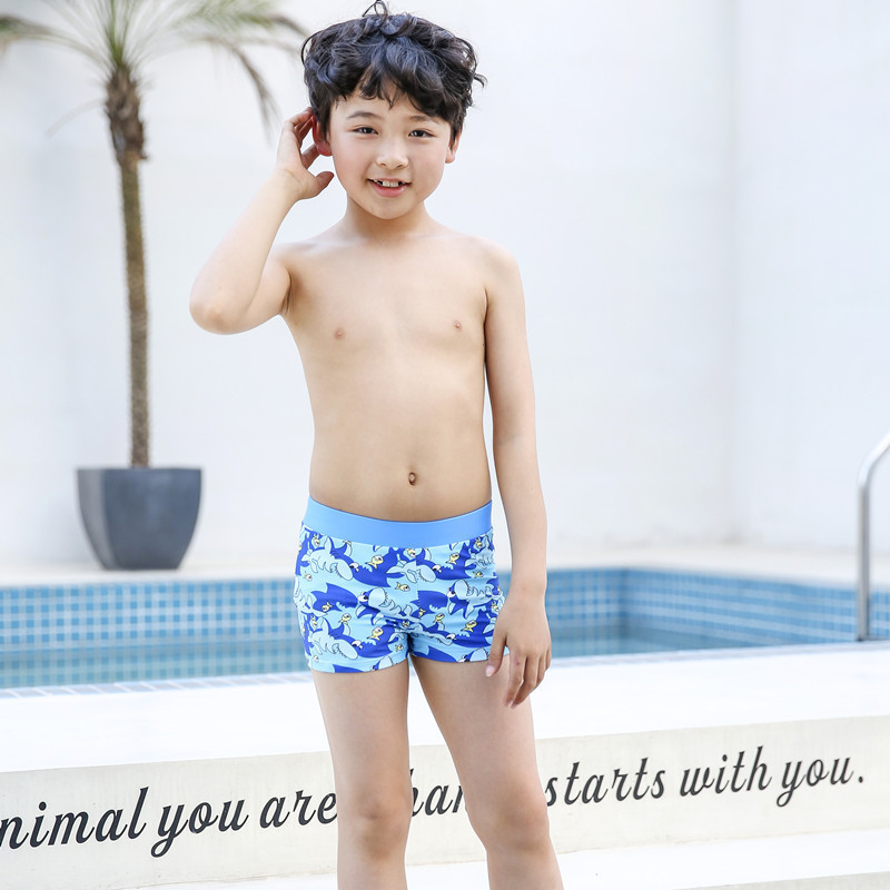 Sharp Swam New Style Children Split Type Swimming Trunks Handsome BOY'S Cartoon Swimming AussieBum Comfortable Large Size Anti-C