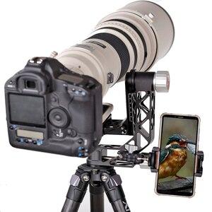 Image 4 - XILETU XGH 2 برو الثقيلة سبائك الألومنيوم Gimbal ترايبود رئيس استقرار سريعة الإصدار لوحة ل المقربة عدسة التصوير الطيور
