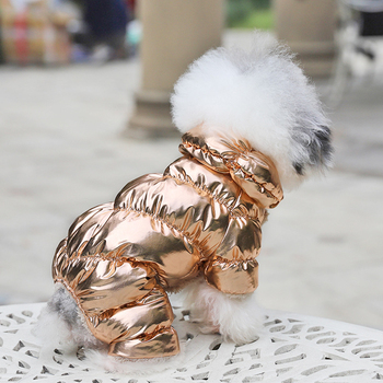 Dog Winter Metallic Coat  1