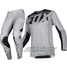 Delicado Fox moto MX 360 Kila Jersey pantalones moto todoterreno Scooter Motocross Race Gear Set traje gris(China)