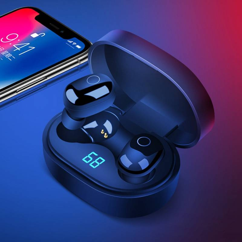 bluetooth Earphone <font><b>TWS</b></font> Wireless bluetooth 5.0 Smart Touch Stereo LED Display Earbus with Mic IPS <font><b>15</b></font> for Xiaomi image