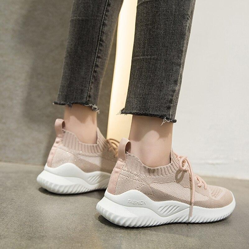 Damyuan Women's Sneakers Summer Flat Bottom Breathable Walking Shoes Woman Mesh Casual Lightweight Shoes Fashion Women Shoes