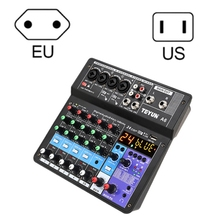 Digital Mini Microphone Sound Mixer Sound Card Karaoke Mixer Professional 6 Channel -Studio Mixing Console M2EC