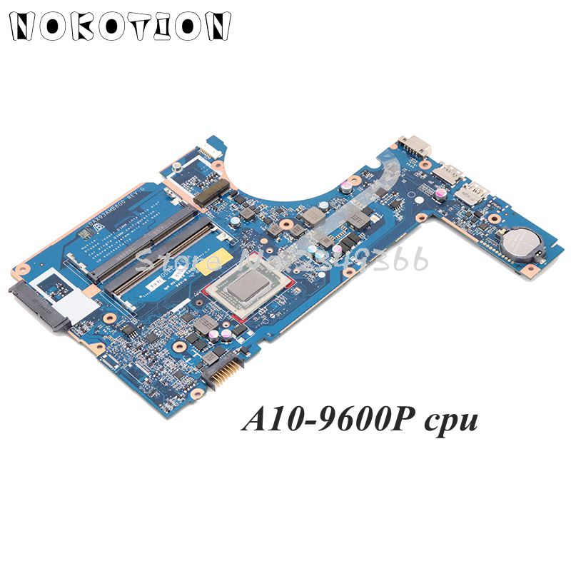 NOKOTION For <font><b>HP</b></font> Probook <font><b>455</b></font> G4 Laptop <font><b>motherboard</b></font> 911244-601 911244-001 907356-601 DAX93AMB6G0 Mainboard A10-9600P CPU image