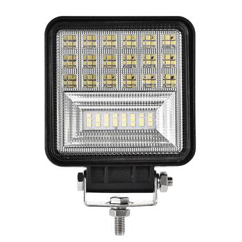 4pcs 48W LED Car Light Super Bright Work Light IP67 Waterproof Square Spotlight For Truck SUV Boating Reflection Cup  DC12-24V