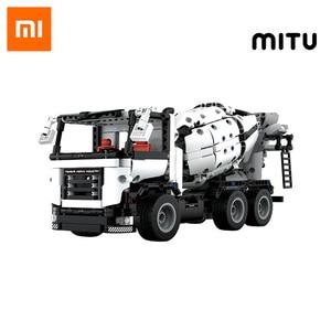 Image 1 - Xiaomi MITU mühendislik karıştırıcı kamyon yapı taşları araba oyuncak çocuklar noel hediyesi montaj yapı tuğla 900 + parçaları bulmacalar DIY