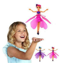 Flyings Luminous Princess Cute Dolls fairy RC Toy Infrared Induction drone RC He