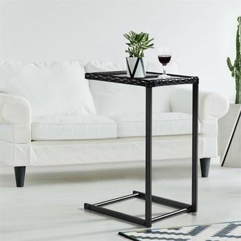 Rattan Square Coffee Table  Minimalist  Side Tables  Furniture HW52036