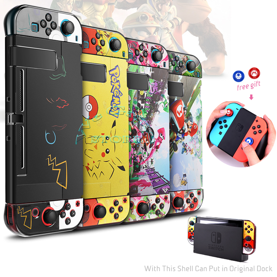 Nitendo Nintend Switch Console Housing Shell Case Nintendoswitch Protector Box Cover 2 Caps for Nintendos Switch