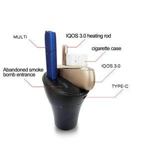 Image 2 - Jinxingcheng 3 Trong 1 Sạc Xe Hơi Cho Iqos 3.0 Bộ Đôi Sạc Loại C Sạc Liệu Vỏ ABS iqos Đa 3.0 3.0 Nóng Lạnh