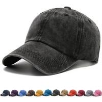 Boné de beisebol unissex, boné de algodão sólido, chapéu snapback de moda para quatro estações, visor casual simples de vintag, chapéu para homens e mulheres