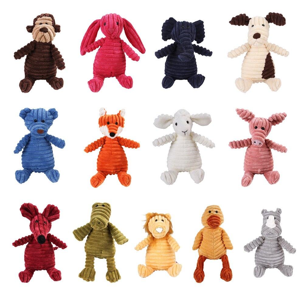 Игрушка для собак, прочная Жевательная пищалка, игрушки для обучения французскому молару, Вельветовая обезьяна, свинка, крокодил, слон, крол...