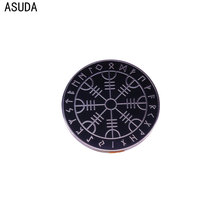 Viking rune amulets brooch and enamel pins Men and women fashion jewelry gifts anime movie novel lapel badges sp044 viking rune hard enamel pins and brooches women men lapel pin backpack bags cartoon anime badges gifts punk jewelry