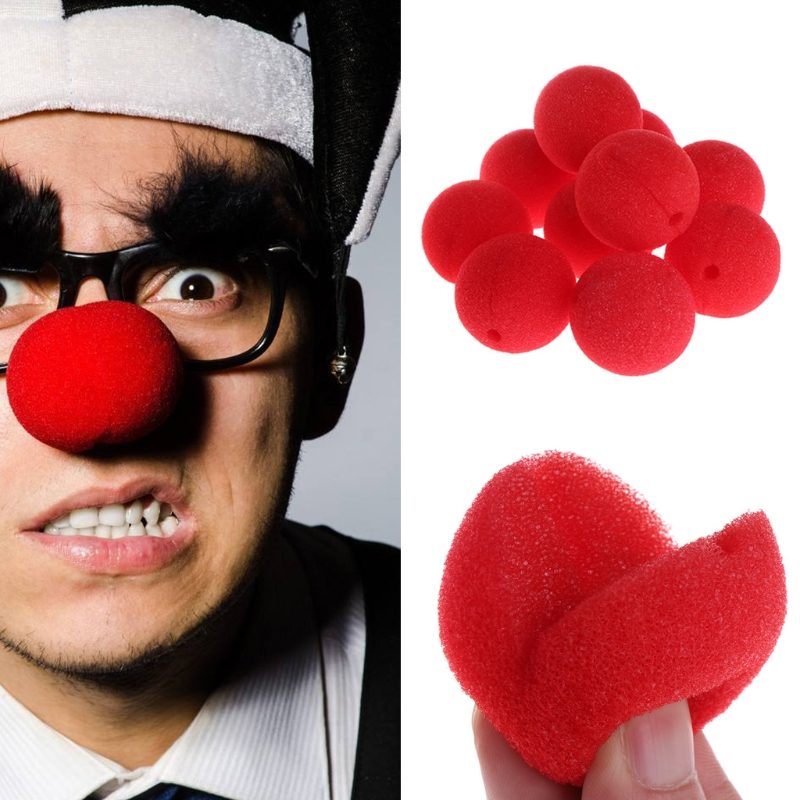 25Pcs Sponge Ball Clown Nose For Christmas Halloween Costume Party Decoration 634F