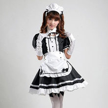 Cute Maid Dress Lolita Girl Costumes French Gothic Anime Cosplay Kawawi Waitress Plus Size Party Costumes Set For Women
